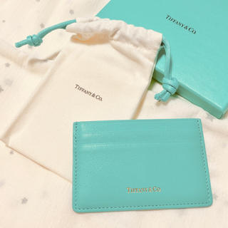 ティファニー(Tiffany & Co.)のティファニー レザーカードケース(名刺入れ/定期入れ)