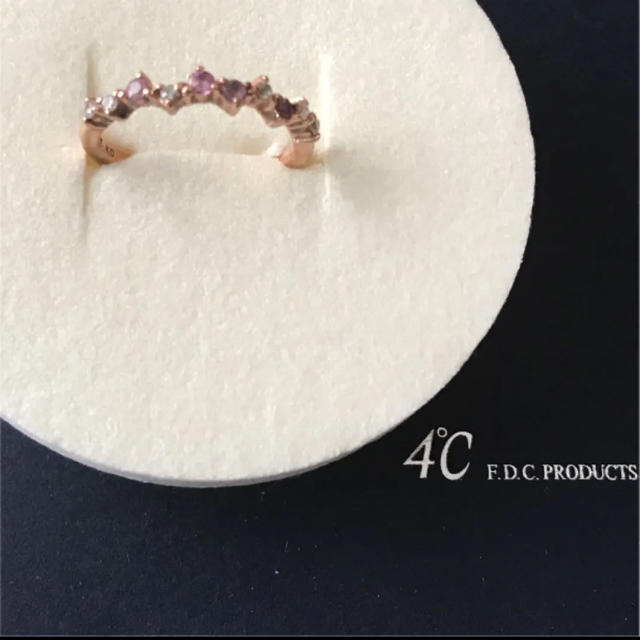 4℃(ヨンドシー)の4℃ K10 ピンクゴールドリング 9号 レディースのアクセサリー(リング(指輪))の商品写真