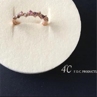 ヨンドシー(4℃)の4℃ K10 ピンクゴールドリング 9号(リング(指輪))