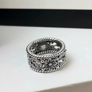 グッチ(Gucci)の新品 GUCCIグッチ リング指輪 8号 美品シルバー (リング(指輪))
