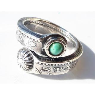 最終※未使用ノースワークス モーガン 硬貨 ターコイズ リング 指輪(リング(指輪))