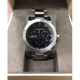 バーバリー(BURBERRY)の【美品】バーバリー★メンズ腕時計★BU9351ブラック/ステンレス(金属ベルト)