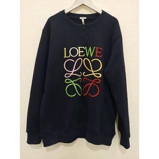 ロエベ(LOEWE)のLOEWE 19SS レインボーアナグラム刺繍 トレーナー_D NAVY(スウェット)