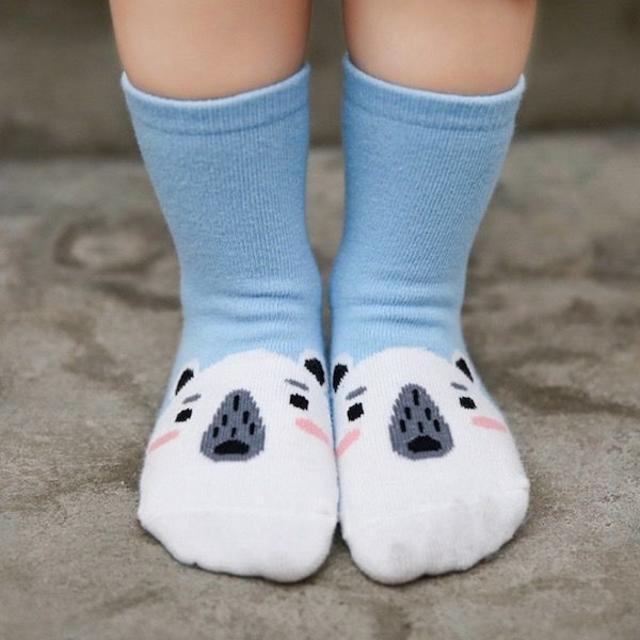petitnats❤つま先動物ボーイ《15〜17cm》〔ms17041-m〕 キッズ/ベビー/マタニティのこども用ファッション小物(靴下/タイツ)の商品写真