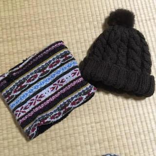 コムサイズム(COMME CA ISM)のニット帽&ネックウォーマーセット(ニット帽/ビーニー)