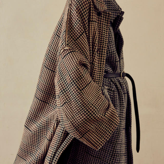 YOKE 18AW 12G GUNCLUB CHECK KNIT COAT メンズのジャケット/アウター(ステンカラーコート)の商品写真