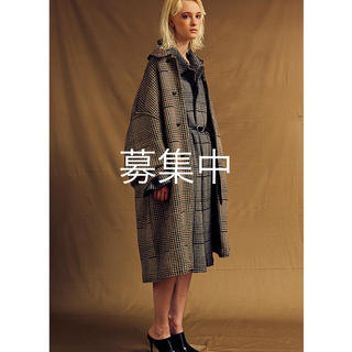 YOKE 18AW 12G GUNCLUB CHECK KNIT COAT(ステンカラーコート)