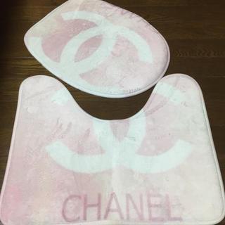 シャネル(CHANEL)のトイレカバー&マットセット 新品未使用(トイレマット)