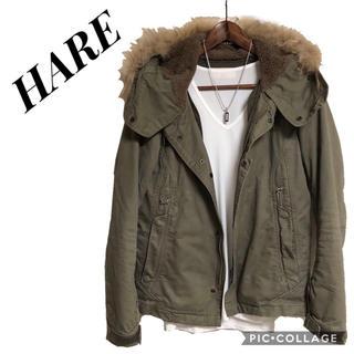 HARE - HARE ミリタリージャケット  ショートモッズコート ミリタリーブルゾン