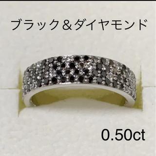 ポンテヴェキオ(PonteVecchio)のk18WG  ポンテヴェキオ  ブラック&ダイヤ リング(リング(指輪))
