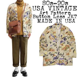★美品★80s 90s USA VINTAGE★レーヨンジャケット★USA製★M(テーラードジャケット)
