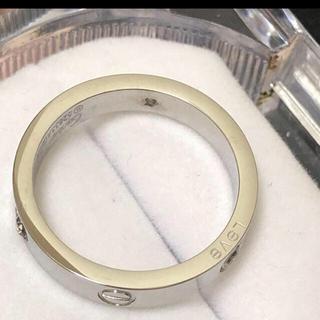 カルティエ(Cartier)のカルティエミニラブリングハーフダイヤ特別価格(リング(指輪))