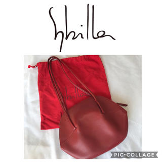 シビラ(Sybilla)のシビラ♢シェル型ショルダーバッグ ワインレッド(ショルダーバッグ)