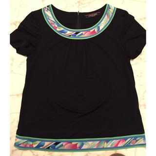 レオナール(LEONARD)のレオナール♥️ラインストーントップス‼️美品(Tシャツ(半袖/袖なし))