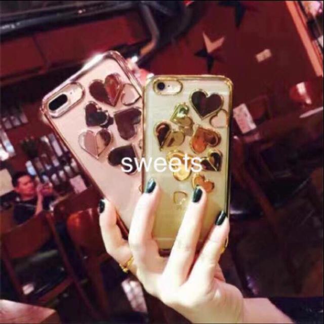韓国立体ハートミラーiPhoneケースの通販
