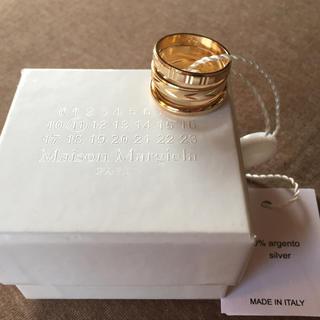 マルタンマルジェラ(Maison Martin Margiela)の値下18AW新品M メゾンマルジェラ 3連リング レイヤード ゴールド メンズ(リング(指輪))