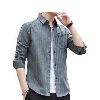 シャツ メンズ 長袖 半袖 カジュアル 無地 オックスフォード シャツ (シャツ)