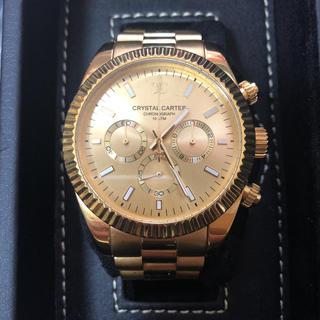 アヴァランチ(AVALANCHE)のクリスタルカーター腕時計ゴールド(腕時計(アナログ))