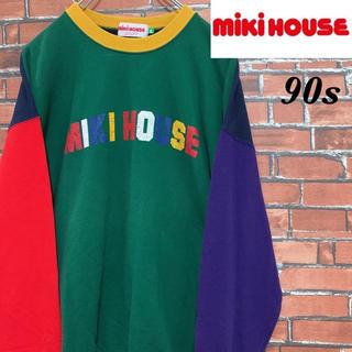 ミキハウス(mikihouse)の【激レア】 90s ミキハウス クレイジーパターン スウェット トレーナー(スウェット)