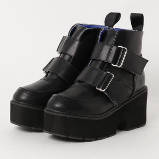 ヨースケ(YOSUKE)のYOSUKE 厚底ダブルストラップ付きブーツ(ブーツ)