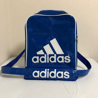 adidas - adidas アディダス エナメルバッグ ブルー