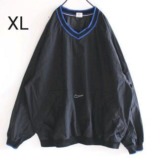 ナイキ(NIKE)のUS ナイキ シワ加工 Vネック プルオーバー ナイロン ジャケット XL(ナイロンジャケット)
