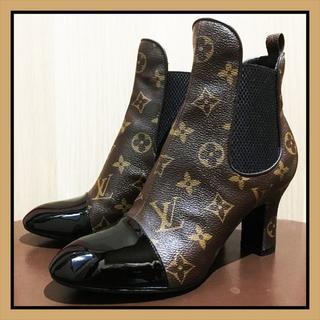 ルイヴィトン(LOUIS VUITTON)の【正規品・美品】『ルイヴィトン』アンクルブーツ/22~22.5cm/モノグラム(ブーツ)