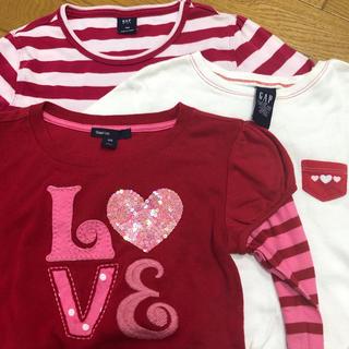 ギャップ(GAP)のGAP女の子140 .150キッズLカットソー3枚セット(Tシャツ/カットソー)