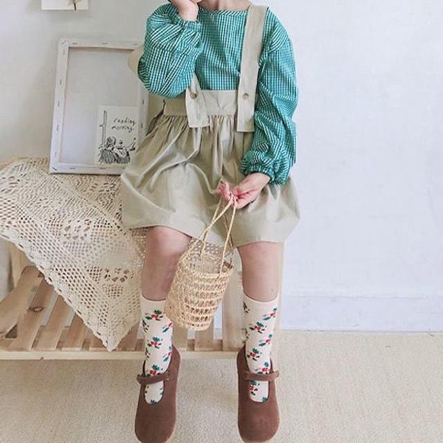 petitNATS❤小花ハイソ《17〜19cm》〔ms19009-l〕 キッズ/ベビー/マタニティのこども用ファッション小物(靴下/タイツ)の商品写真