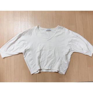 アダムエロぺ(Adam et Rope')の【アダムエロペ】Vネックカットソー(Tシャツ(半袖/袖なし))