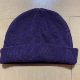 ウィゴー(WEGO)のくすみパープル ニット帽 ビーニー(ニット帽/ビーニー)
