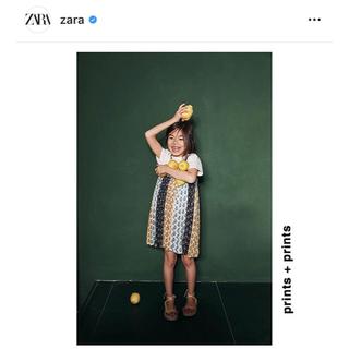ザラキッズ(ZARA KIDS)の140 ZARA シャイニー ワンピース(ワンピース)