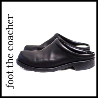 フットザコーチャー(foot the coacher)のfoot the coather ミニマルクロッグ レザー vibramソール(サンダル)