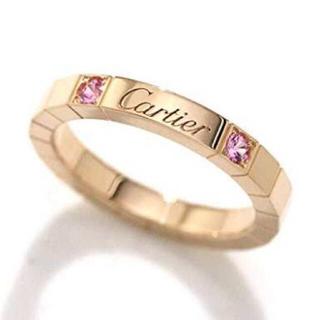 カルティエ(Cartier)のCartier カルティエ ラニエール #48 PG ピンクサファイア(リング(指輪))