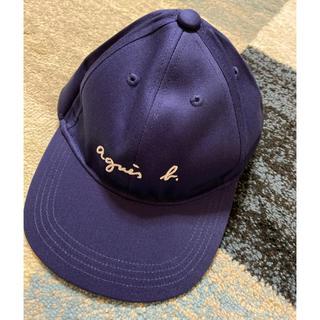 アニエスベー(agnes b.)の新品★アニエス・ベー キッズ キャップ★ネイビー(帽子)