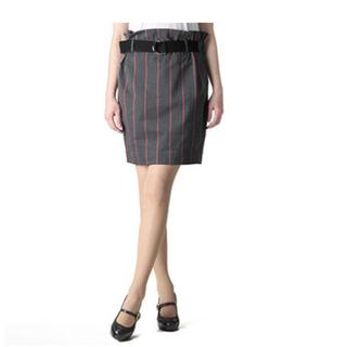 ヴィヴィアンウエストウッド(Vivienne Westwood)のヴィヴィアンウエストウッド美品スクールストライプタイトスカート(ひざ丈スカート)