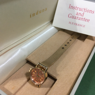 アッシュペーフランス(H.P.FRANCE)の【購入者の方が決まっています】induna 腕時計 ピンクゴールド(腕時計)