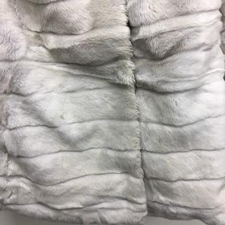 リズリサ(LIZ LISA)の段々ファーコート グレー LIZ LISA 新品 未使用 送料込み(毛皮/ファーコート)