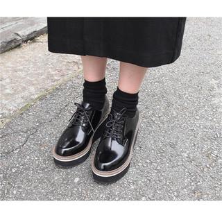 スタイルナンダ(STYLENANDA)のオックスフォード 厚底 ラバーソール(ローファー/革靴)