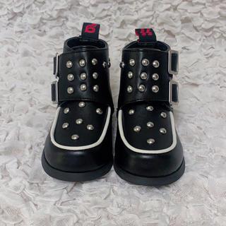 ヒステリックミニ(HYSTERIC MINI)の専用♡ 11/12までお取り置き ブーツ 黒 14センチ (ブーツ)