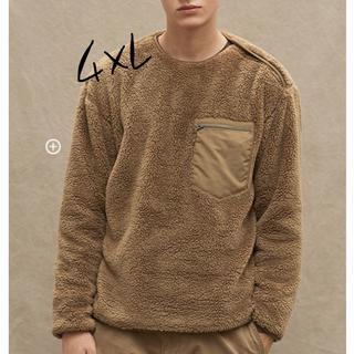 エンジニアードガーメンツ(Engineered Garments)のフリースプルオーバー  4XL ベージュ(スウェット)