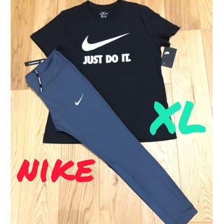 NIKE - NIKE タイツ Tシャツ セットアップ LL 上下セット ナイキ スパッツ