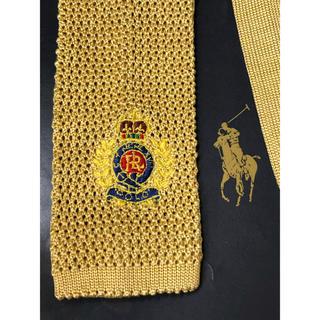 ポロラルフローレン(POLO RALPH LAUREN)のPOLO/ラルフローレン ニットタイシルク100% エンブレム刺繍 最上級レア品(ネクタイ)