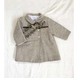 キャラメルベビー&チャイルド(Caramel baby&child )のベージュ ツイード コート 丸襟コート キルティング コート babygap(ジャケット/コート)