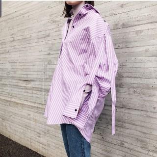 ルシェルブルー(LE CIEL BLEU)のIRENE ストライプシャツ(シャツ/ブラウス(長袖/七分))