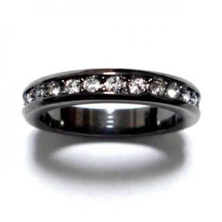 4号 スワロフスキー フルエタニティ ガンメタリング(リング(指輪))