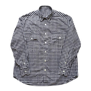 ポーター(PORTER)のPorter Classic - ROLL UP GINGHAM CHECK/黒(シャツ)