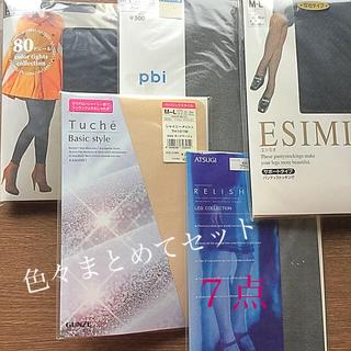 アツギ(Atsugi)のデザインストッキング  、タイツ、ヒートテックL 、靴下セット(タイツ/ストッキング)