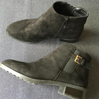 ハニーズ(HONEYS)のショートブーツ ローヒール ブラック Lサイズ(ブーツ)