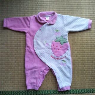 motherways - あったかフリースカバーオール1枚 3〜6ヶ月サイズ 中古 冬物 女の子